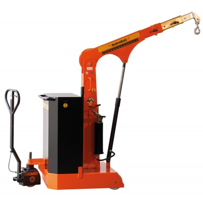 Freitragender, hydraulischer Bodenkran inkl. Fahrpositionierer