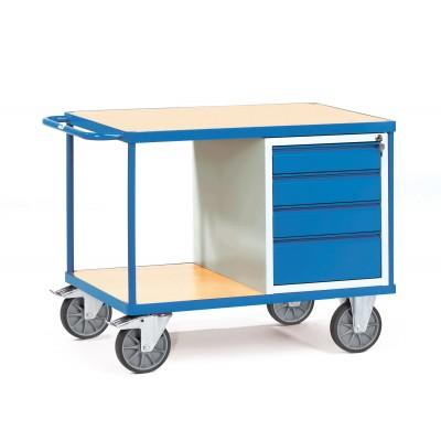 Tischwagen mit verschließbarem Schrank oder Schubladen Ausführung | mit 4 Schubladen