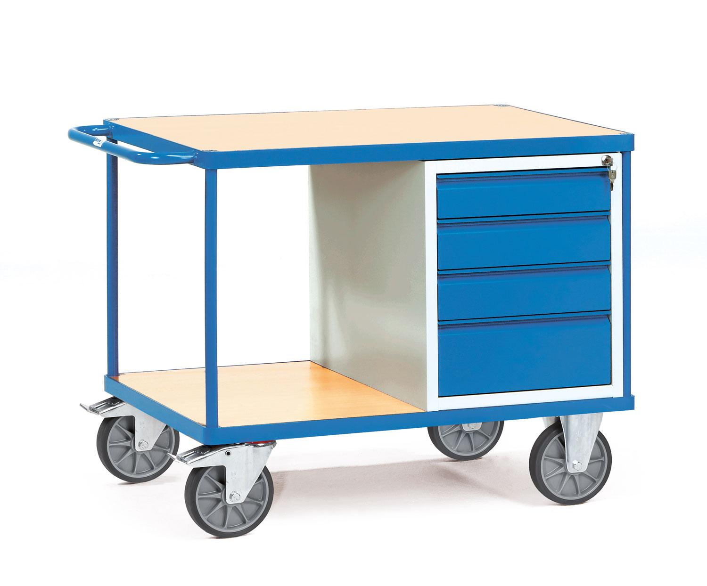 tischwagen mit verschlie barem schrank oder schubladen. Black Bedroom Furniture Sets. Home Design Ideas