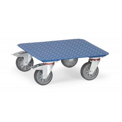 Kistenroller mit Blech-Plattform Plattformausführung | Stahl-Tränenblech