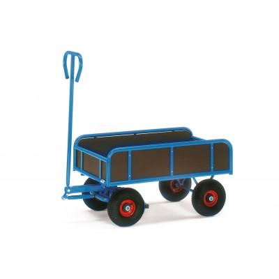 Deichsel-Handwagen 2-achsig mit Bordwänden