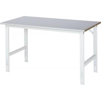 Arbeitstisch mit Stahlblech-Platte - verstellbar 760-1080 mm