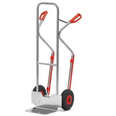 Aluminium - Stapelkarre mit Kunststoffkufen Traglast 200 kg Schaufelabmessung B x T | 320 x 250 mm