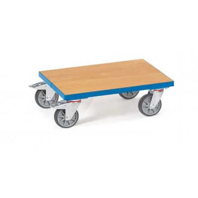 Eurokasten-Roller mit Boden aus Holzwerkstoffplatte bündig mit Rahmen