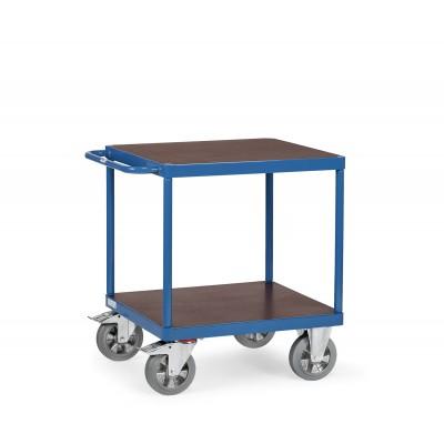 Tischwagen - mit 2 Etagen, Traglast obere Plattform 500 kg