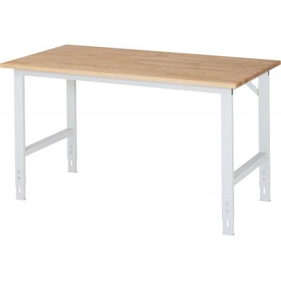 Arbeitstisch mit Buche-Platte - verstellbar 760-1080 mm
