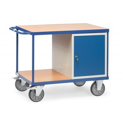 Tischwagen mit verschließbarem Schrank