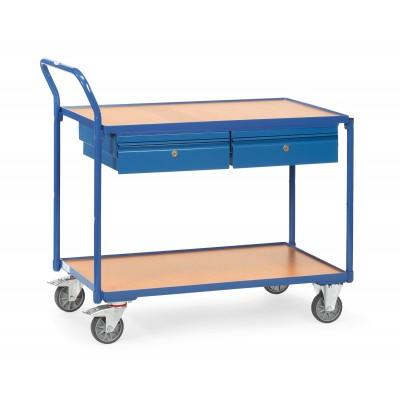 Tischwagen mit 2 Schubladen