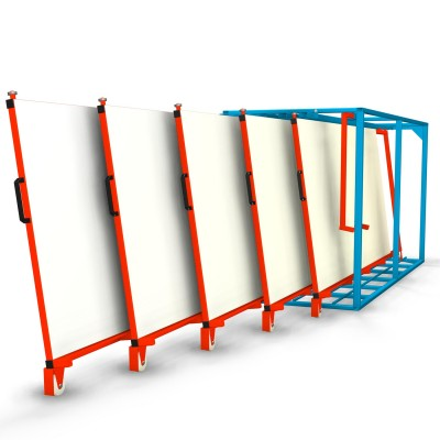 Vertikales Tafelregal ausziehbar