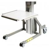 Plattform PEHD mit Rollen - 495 x 495 mm | Impact 80, 90, 130