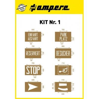 Schablonen Kit Nr. 1