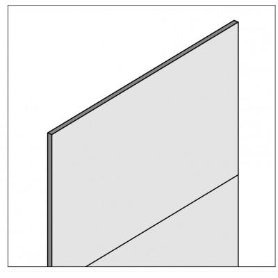 Rückwand Vollblech - für Fachbodenregal Stecksystem