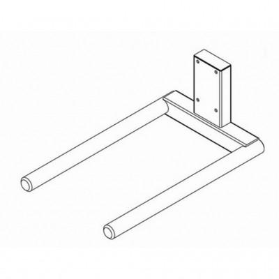Doppeldorn, lackierter Stahl - für Rollen mit Ø 300-400 mm