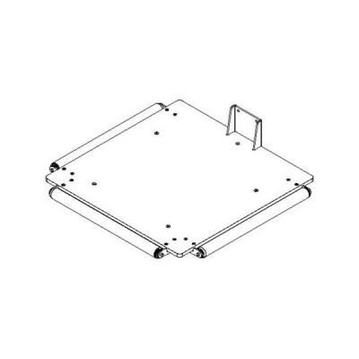 Plattform PEHD mit Rollen - 495 x 495 mm