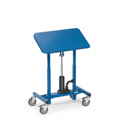 Materialständer mit neigbarer Plattform, Höhe 720 - 1070 mm