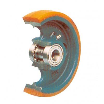 Schwerlast-Rad mit Polyurethan-Bereifung Ausführung | Einzelrad
