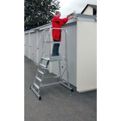 Aluminium-Podest-Treppe - fahrbar