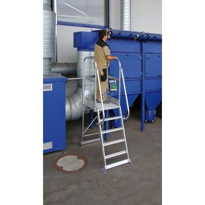 Aluminium-Podesttreppe, stationär