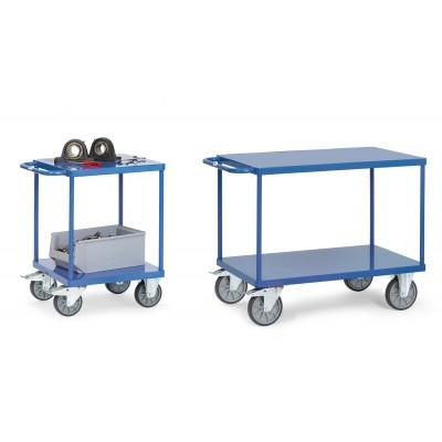 Schwerer Tischwagen mit Stahlblech-Plattform