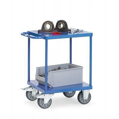 Schwerer Tischwagen mit Stahlblech-Plattform Ladefläche L x B | 1200 x 800 mm