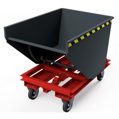 Selbstkipper mit automatischer Auslösefunktion - mit Radunterbau, Traglast bis 1.300 kg