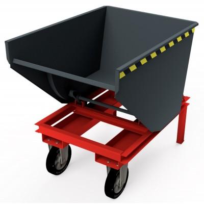 Selbstkipper mit Hebelroller-Aufnahme, Traglast bis 2.500 kg