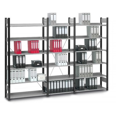 Aktenregal - Stecksystem 60 kg Traglast/Fachboden