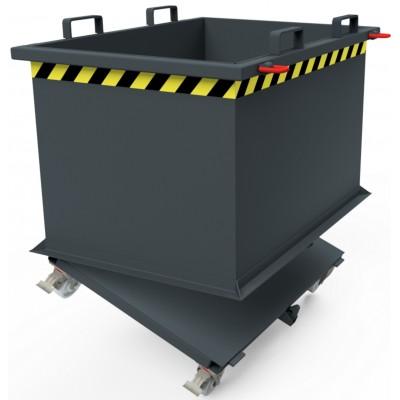 Automatischer Klappbodenbehälter - auf Polyamid-Rädern