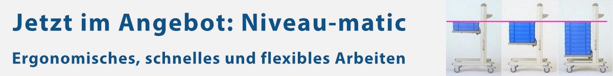 Jetzt im Angebot: Montagewagen mit Niveauausgleich - Niveau-matic